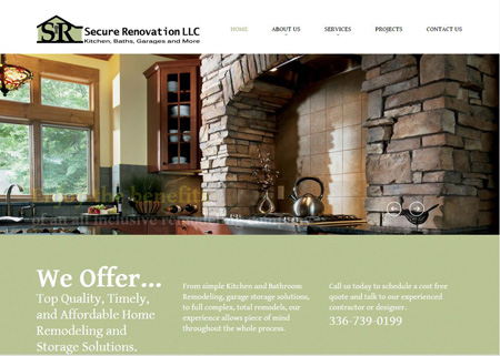 secure renovation website design